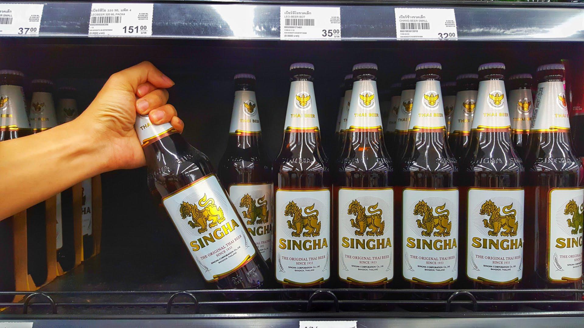 Singha beer is one of three major beer brands in Thailand. Photo: Shutterstock