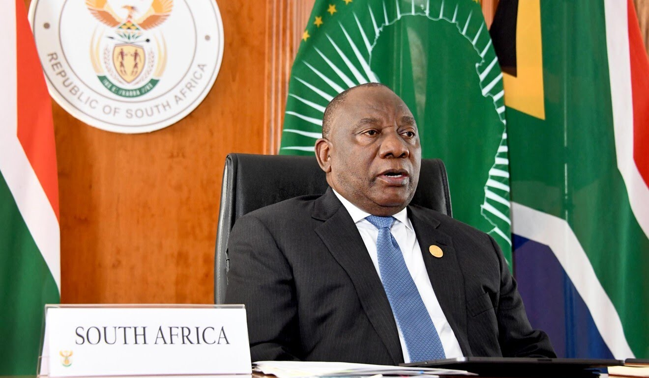 South African President Cyril Ramaphosa speaks at the China-Africa summit on Wednesday in Pretoria. Photo: Handout via Xinhua