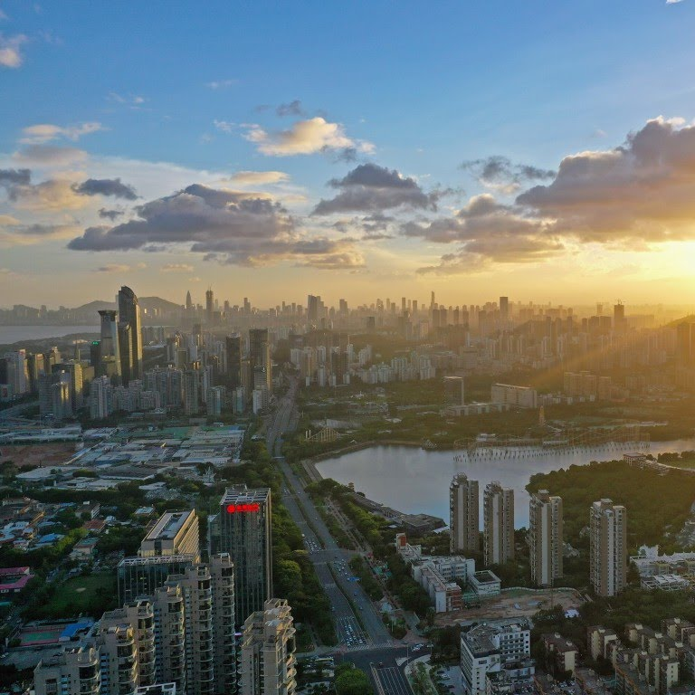 An aerial photo of Shenzhen, which was recently dubbed an 'engine' of the Greater Bay Area. Photo: Xinhua